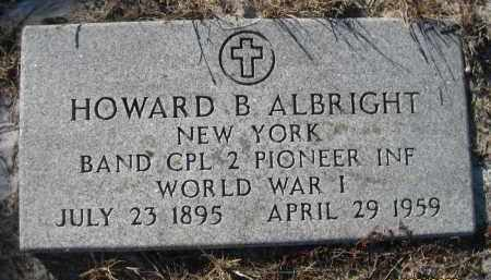 ALBRIGHT (VETERAN WWI), HOWARD B (NEW) - Sarasota County, Florida | HOWARD B (NEW) ALBRIGHT (VETERAN WWI) - Florida Gravestone Photos