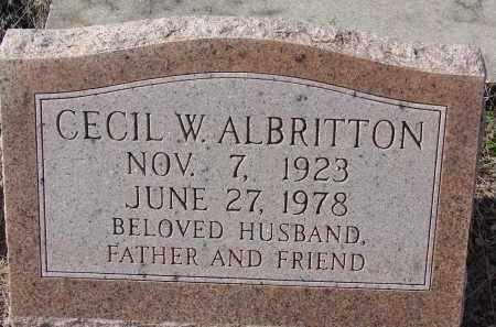 ALBRITTON, CECIL W. - Sarasota County, Florida | CECIL W. ALBRITTON - Florida Gravestone Photos