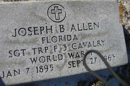 ALLEN (VETERAN WWI), JOSEPH B (NEW) - Sarasota County, Florida | JOSEPH B (NEW) ALLEN (VETERAN WWI) - Florida Gravestone Photos
