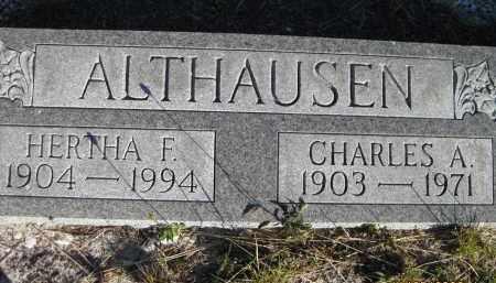 ALTHAUSEN, HERTHA F - Sarasota County, Florida | HERTHA F ALTHAUSEN - Florida Gravestone Photos