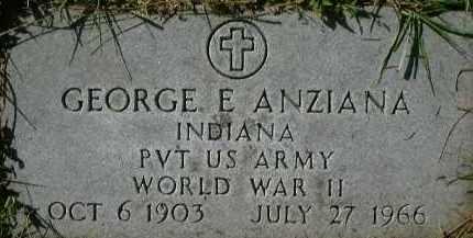 ANZIANA (VETERAN WWII), GEORGE E. - Sarasota County, Florida | GEORGE E. ANZIANA (VETERAN WWII) - Florida Gravestone Photos