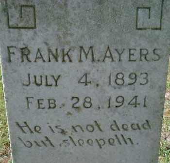 AYERS, FRANK M. - Sarasota County, Florida | FRANK M. AYERS - Florida Gravestone Photos