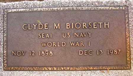 BIORSETH (VETERAN WWI), CLYDE M. (NEW) - Sarasota County, Florida   CLYDE M. (NEW) BIORSETH (VETERAN WWI) - Florida Gravestone Photos