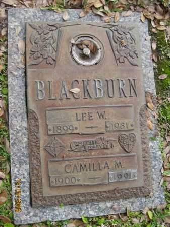 BLACKBURN, LEE W - Sarasota County, Florida | LEE W BLACKBURN - Florida Gravestone Photos