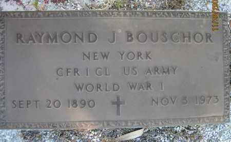BOUSCHOR (VETERAN WWI), RAYMOND J (NEW) - Sarasota County, Florida | RAYMOND J (NEW) BOUSCHOR (VETERAN WWI) - Florida Gravestone Photos