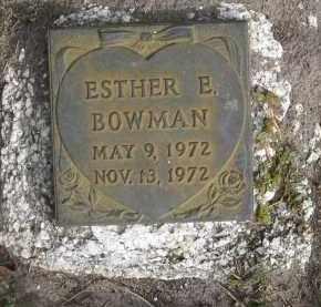 BOWMAN, ESTHER E - Sarasota County, Florida | ESTHER E BOWMAN - Florida Gravestone Photos