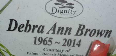 BROWN, DEBRA ANN - Sarasota County, Florida | DEBRA ANN BROWN - Florida Gravestone Photos