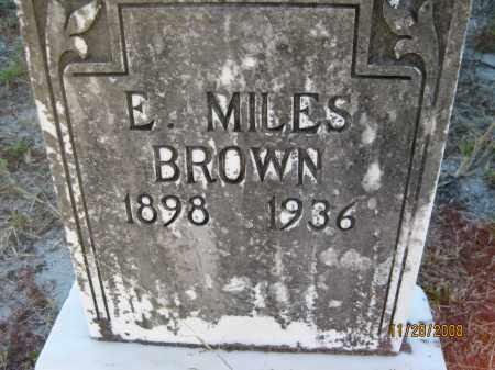 BROWN, E MILES - Sarasota County, Florida   E MILES BROWN - Florida Gravestone Photos