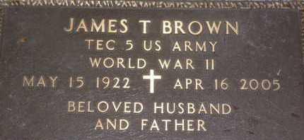 BROWN, JAMES T. - Sarasota County, Florida | JAMES T. BROWN - Florida Gravestone Photos