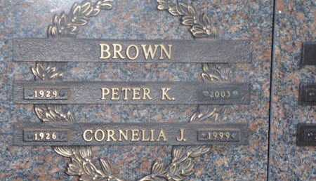 BROWN, PETER K - Sarasota County, Florida | PETER K BROWN - Florida Gravestone Photos