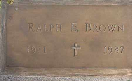 BROWN, RALPH E - Sarasota County, Florida | RALPH E BROWN - Florida Gravestone Photos