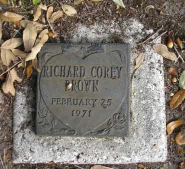 BROWN, RICHARD COREY - Sarasota County, Florida | RICHARD COREY BROWN - Florida Gravestone Photos