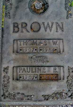 BROWN, THOMAS W. - Sarasota County, Florida | THOMAS W. BROWN - Florida Gravestone Photos