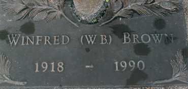 BROWN, WINFRED (W.B.) - Sarasota County, Florida   WINFRED (W.B.) BROWN - Florida Gravestone Photos