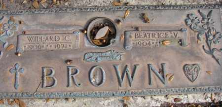 BROWN, BEATRICE V. - Sarasota County, Florida | BEATRICE V. BROWN - Florida Gravestone Photos