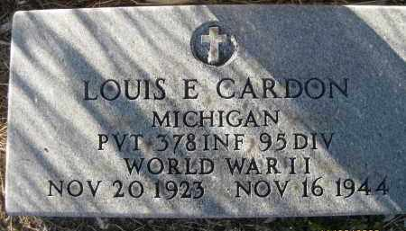CARDON (VETERAN WWII), LOUIS E (NEW) - Sarasota County, Florida | LOUIS E (NEW) CARDON (VETERAN WWII) - Florida Gravestone Photos