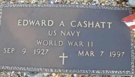 CASHATT (VETERAN WWII), EDWARD A (NEW) - Sarasota County, Florida | EDWARD A (NEW) CASHATT (VETERAN WWII) - Florida Gravestone Photos