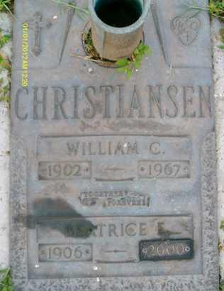CHRISTIANSEN, BEATRICE E. - Sarasota County, Florida   BEATRICE E. CHRISTIANSEN - Florida Gravestone Photos