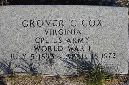 COX (VETERAN WWI), GROVER C (NEW) - Sarasota County, Florida | GROVER C (NEW) COX (VETERAN WWI) - Florida Gravestone Photos