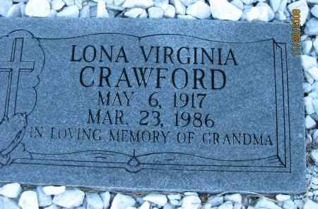 CRAWFORD, LONA VIRGINIA - Sarasota County, Florida   LONA VIRGINIA CRAWFORD - Florida Gravestone Photos