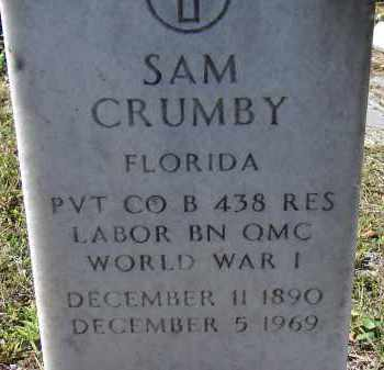 CRUMBY (VETERAN WWI), SAM - Sarasota County, Florida | SAM CRUMBY (VETERAN WWI) - Florida Gravestone Photos