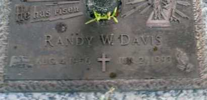 DAVIS, RANDY  W. - Sarasota County, Florida | RANDY  W. DAVIS - Florida Gravestone Photos