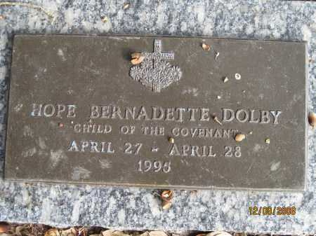 DOLBY, HOPE BERNADETTE - Sarasota County, Florida | HOPE BERNADETTE DOLBY - Florida Gravestone Photos