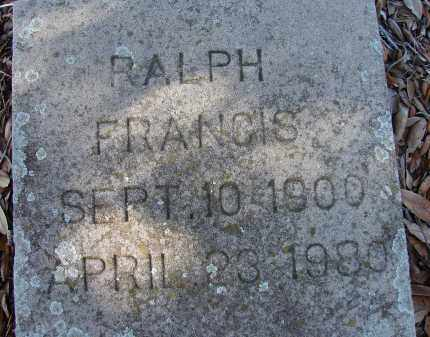 FRANCIS, RALPH - Sarasota County, Florida | RALPH FRANCIS - Florida Gravestone Photos