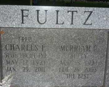 FULTZ, CHARLES F  (FRED) - Sarasota County, Florida   CHARLES F  (FRED) FULTZ - Florida Gravestone Photos