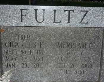 FULTZ, MERRIAM G. (BETTYY) - Sarasota County, Florida | MERRIAM G. (BETTYY) FULTZ - Florida Gravestone Photos
