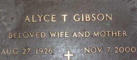 GIBSON, ALYCE T. - Sarasota County, Florida | ALYCE T. GIBSON - Florida Gravestone Photos