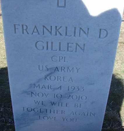 GILLEN (VETERAN KOR), FRANKLIN D - Sarasota County, Florida | FRANKLIN D GILLEN (VETERAN KOR) - Florida Gravestone Photos