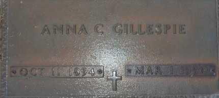 GILLESPIE, ANNA C. - Sarasota County, Florida | ANNA C. GILLESPIE - Florida Gravestone Photos
