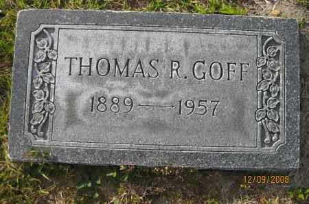 GOFF, THOMAS R - Sarasota County, Florida | THOMAS R GOFF - Florida Gravestone Photos