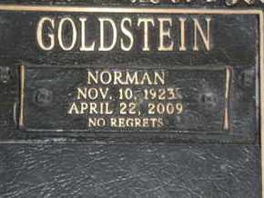 GOLDSTEIN, NORMAN - Sarasota County, Florida | NORMAN GOLDSTEIN - Florida Gravestone Photos