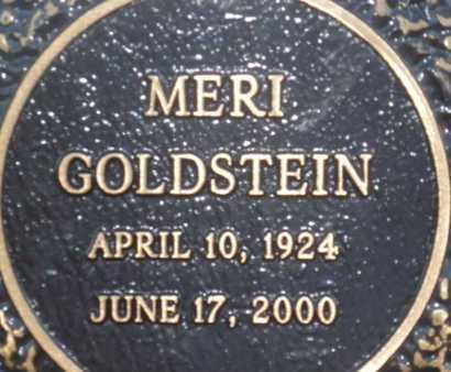 GOLDSTEIN, MERI - Sarasota County, Florida | MERI GOLDSTEIN - Florida Gravestone Photos