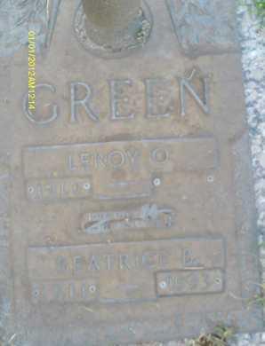 GREEN, LEROY  O. - Sarasota County, Florida   LEROY  O. GREEN - Florida Gravestone Photos