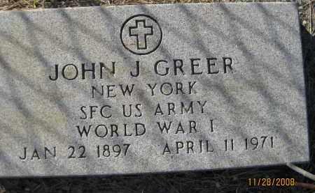 GREER (VETERAN WWI), JOHN J (NEW) - Sarasota County, Florida | JOHN J (NEW) GREER (VETERAN WWI) - Florida Gravestone Photos