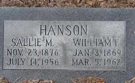 HANSON, WILLIAM F. - Sarasota County, Florida | WILLIAM F. HANSON - Florida Gravestone Photos