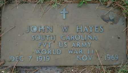 HAYES (VETERAN WWII), JOHN W. - Sarasota County, Florida | JOHN W. HAYES (VETERAN WWII) - Florida Gravestone Photos