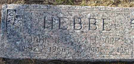 HEBBE, LENORE V - Sarasota County, Florida | LENORE V HEBBE - Florida Gravestone Photos