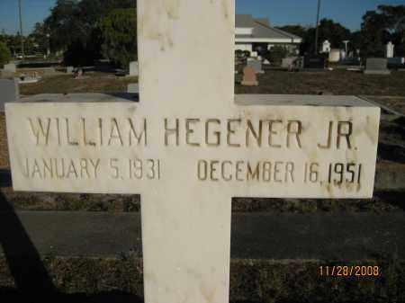 HEGENER, JR, WILLIAM - Sarasota County, Florida | WILLIAM HEGENER, JR - Florida Gravestone Photos