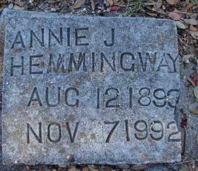 HEMMINGWAY, ANNIE J - Sarasota County, Florida | ANNIE J HEMMINGWAY - Florida Gravestone Photos