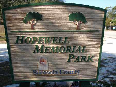 *HOPEWELL MEMORIAL CEMETERY, SIGN - Sarasota County, Florida   SIGN *HOPEWELL MEMORIAL CEMETERY - Florida Gravestone Photos
