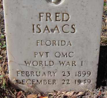 ISAACS (VETERAN WWI), FRED - Sarasota County, Florida | FRED ISAACS (VETERAN WWI) - Florida Gravestone Photos