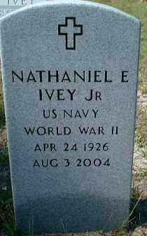IVEY, JR (VETERAN WWII), NATHANIEL EUGENE - Sarasota County, Florida | NATHANIEL EUGENE IVEY, JR (VETERAN WWII) - Florida Gravestone Photos