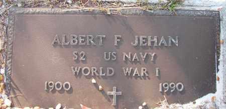 JEHAN (VETERAN WWI), ALBERT F. (NEW) - Sarasota County, Florida | ALBERT F. (NEW) JEHAN (VETERAN WWI) - Florida Gravestone Photos