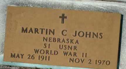 JOHNS (VETERAN WWII), MARTIN CHARLES - Sarasota County, Florida | MARTIN CHARLES JOHNS (VETERAN WWII) - Florida Gravestone Photos