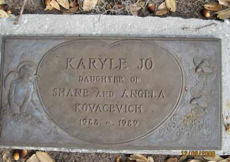 KOVACEVICH, KARYLE JO - Sarasota County, Florida | KARYLE JO KOVACEVICH - Florida Gravestone Photos