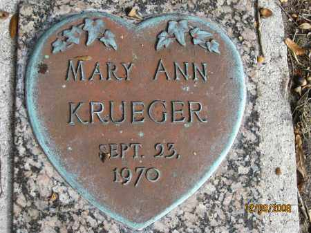 KREUGER, MARY ANN - Sarasota County, Florida | MARY ANN KREUGER - Florida Gravestone Photos